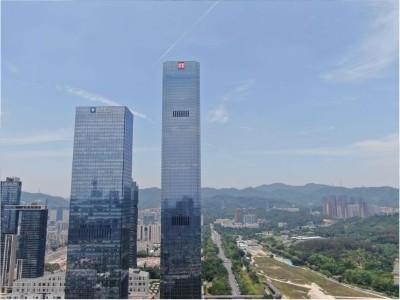 深圳深业上城T1玻璃幕墙发光字工程案例