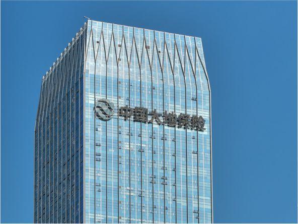 南宁中国大地保险CBD写字楼发光字工程案例