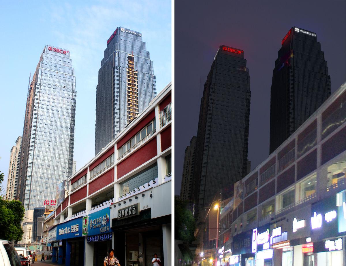 宿州万达广场写字楼发光字工程