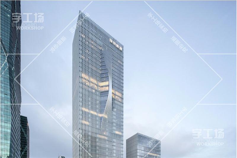 深圳能源大厦发光字工程1