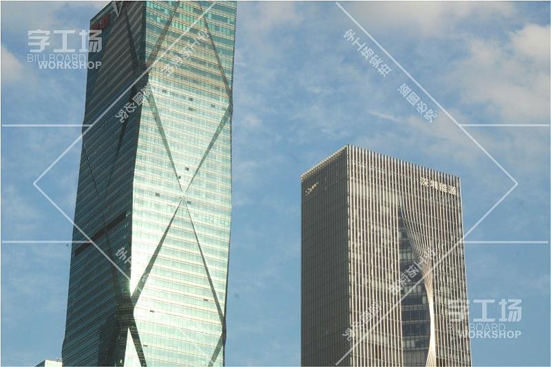 深圳能源办公楼宇标识发光字工程3