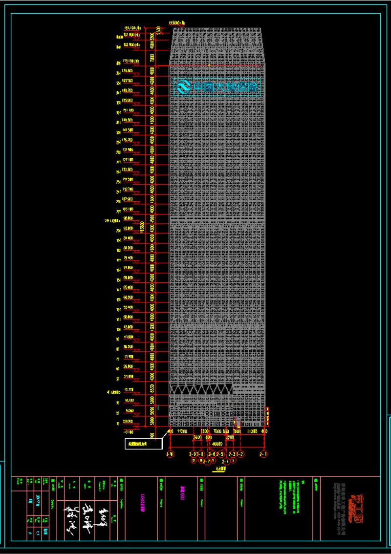 楼体发光字版面信息深化设计制图