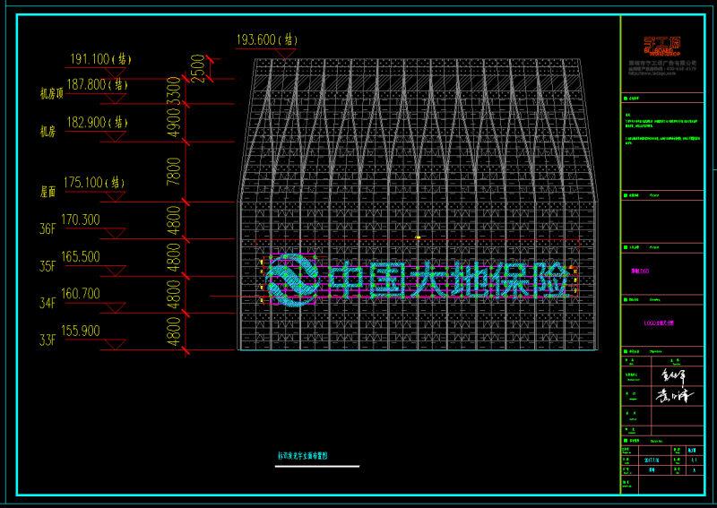 楼顶发光字深化设计制图方案