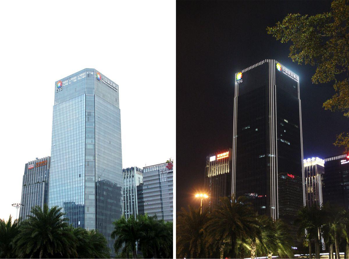 深圳中国旅游集团楼顶发光字工程案例
