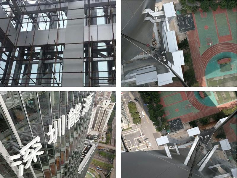深圳能源玻璃幕墙发光字工程