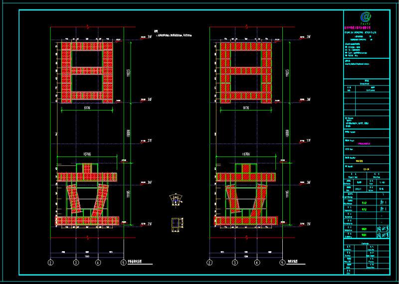 楼宇发光字钢结构构件详图设计