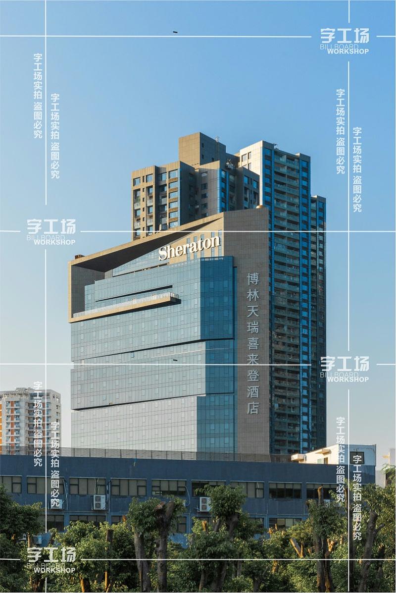 外墙不锈钢发光字的尺寸相对于视锥较小时,重要性就降低了