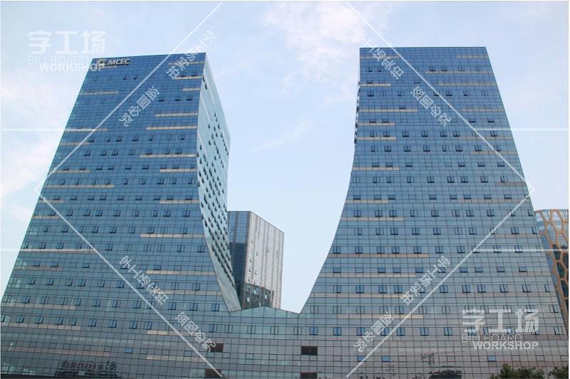 中西部商品交易中心大楼楼顶标识发光字工程12